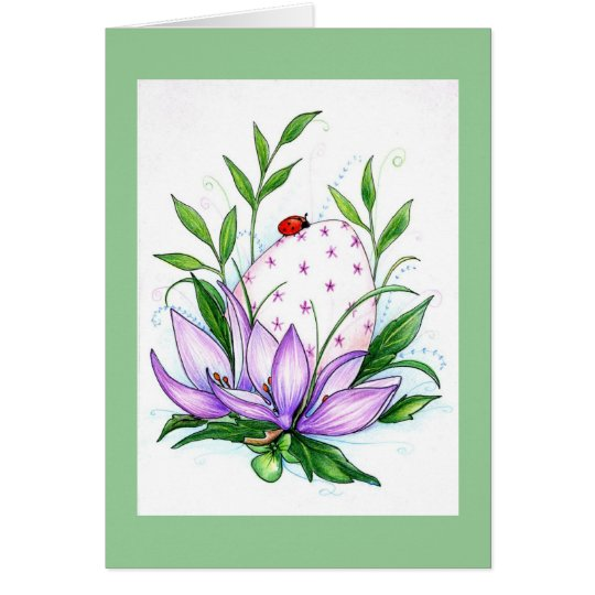 Anemone Easter Card