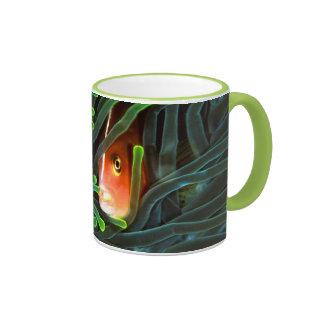 Anemone Fish Hiding In Anemone, Mozambique Ringer Coffee Mug
