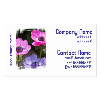 Anemone Flower Business Cards