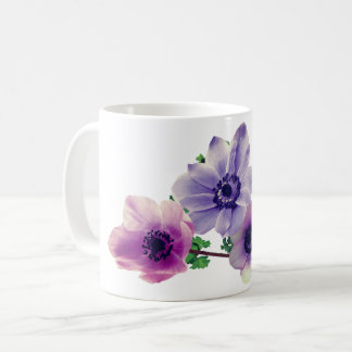 Anemone flower coffee mug