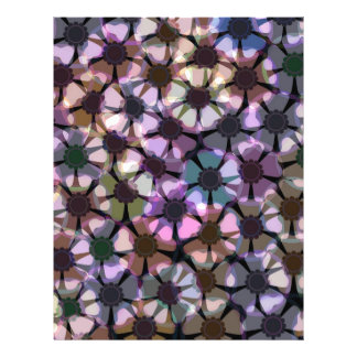 anemone flower pattern flyer