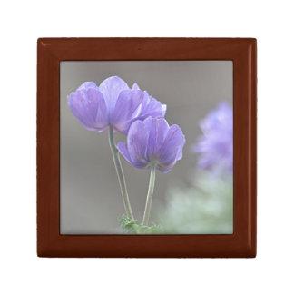 Anemone flower photo keepsake box
