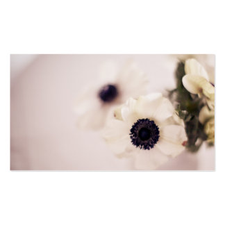 Anemone flowers business cards