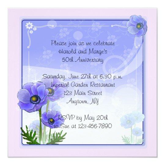 Anemone Flowers Card