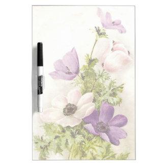 Anemone Flowers Dry-Erase Whiteboard