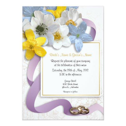 Anemone Flowers Wedding Invite - 2