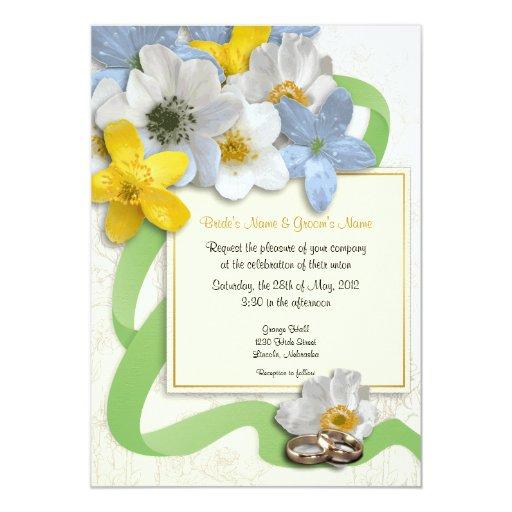 "Anemone Flowers Wedding Invite - 3 5"" X 7"" Invitation Card"