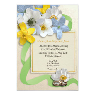 Anemone Flowers Wedding Invite - 3B