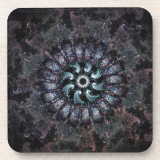 Anemone Fractal Coasters by Christopher R Peters