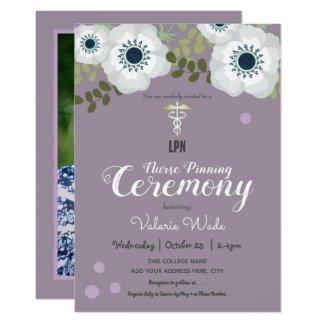 Anemone Graduation LPN Nurse Pinning Ceremony Invitation