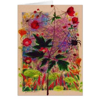 Anemone hupehensis greeting card