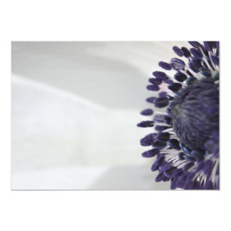 "Anemone Inside 5"" X 7"" Invitation Card"