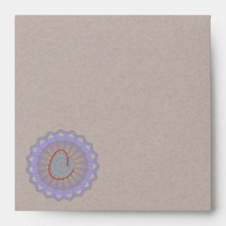Anemone Kaleidoscope Mandala Envelope