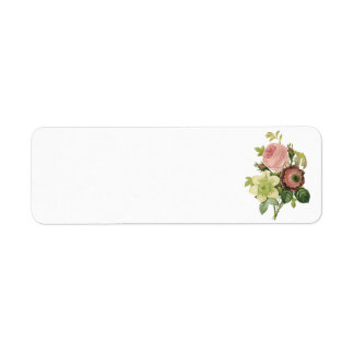 anemone, rose, clematis by Redouté Return Address Label