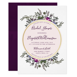 Anemone & Rose Wreath | Floral Bridal Shower Card