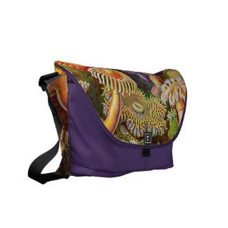 Anemone Zoological Print Messenger Bag