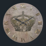 """An&#233;moneathe  Crown Large Clock<br><div class=""""desc"""">Cool crown clock with a royal aristocratic style</div>"""
