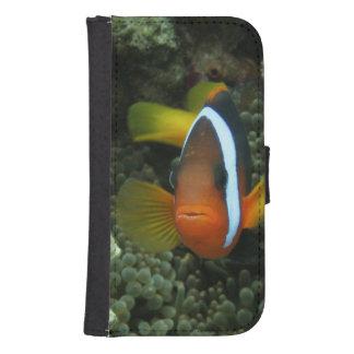 Anemonefish negro (melanopus del Amphiprion) Funda Billetera Para Teléfono