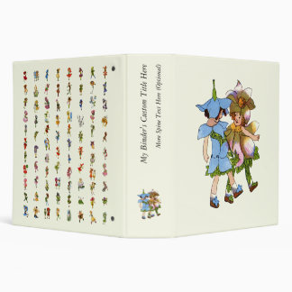 Anemones and Bluets 3 Ring Binder