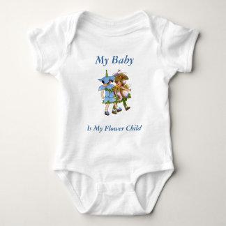 Anemones and Bluets Baby Bodysuit