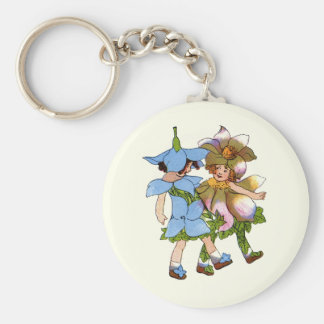 Anemones and Bluets Keychain