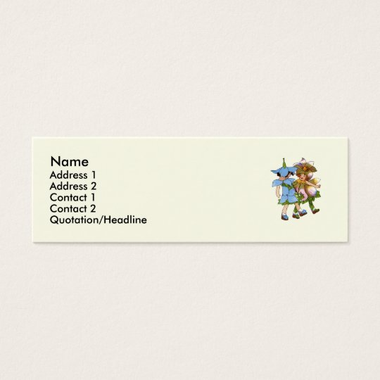 Anemones and Bluets Mini Business Card