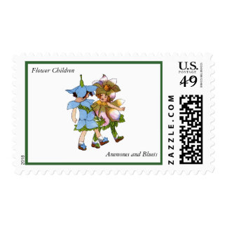 Anemones and Bluets Postage Stamps