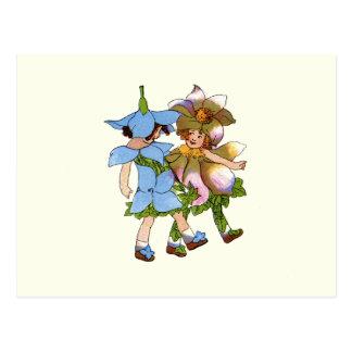 Anemones and Bluets Postcard