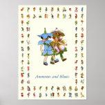Anemones and Bluets Print