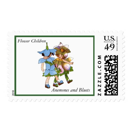 Anemones and Bluets Stamps