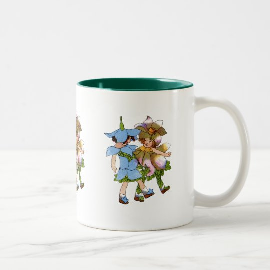 Anemones and Bluets Two-Tone Coffee Mug