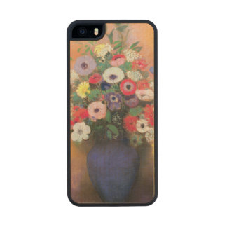Anemones and lilac in a Blue Vase, after 1912 Wood iPhone SE/5/5s Case