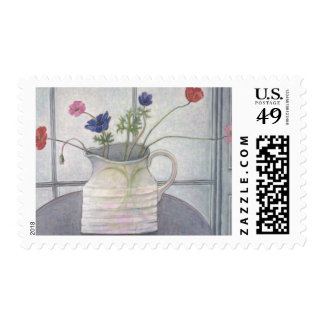 Anemones and Poppies 2008 jug flowers still Postage Stamp