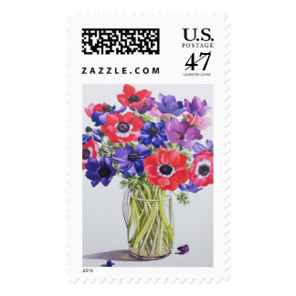 Anemones in a glass jug 2007 postage