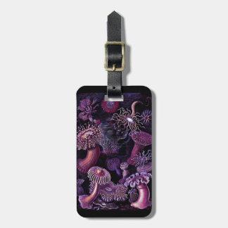 Anemones in Dark Purple Bag Tag