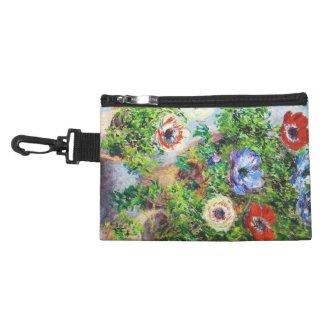 Anemones in Pot Claude Monet flower paint Cosmetic Bag