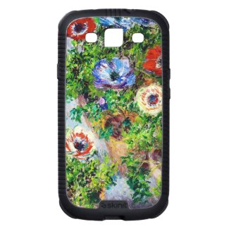 Anemones in Pot Claude Monet flower paint Galaxy SIII Cover