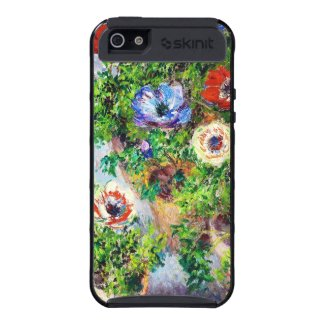 Anemones in Pot Claude Monet flower paint iPhone 5 Cases