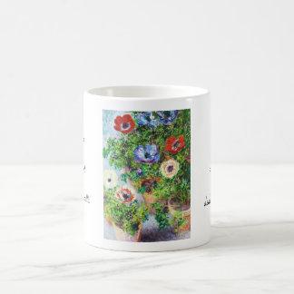 Anemones in Pot Claude Monet flower paint Coffee Mug
