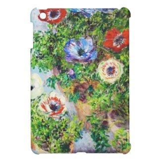 Anemones in Pot Claude Monet flower paint iPad Mini Cover
