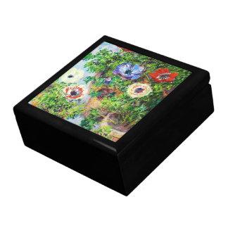 Anemones in Pot Claude Monet flower paint Jewelry Box