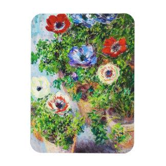 Anemones in Pot Claude Monet flower paint Magnet