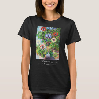 Anemones in Pot Claude Monet flower paint T-Shirt