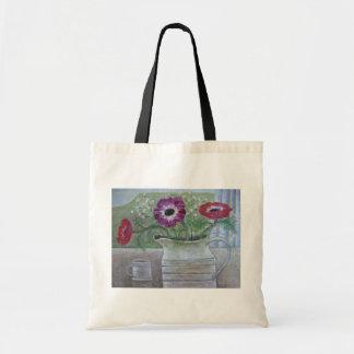 Anemones in White Jug 2013 Budget Tote Bag