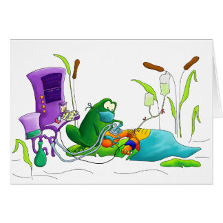 Anesthesia Doctor Frog Greeting Card