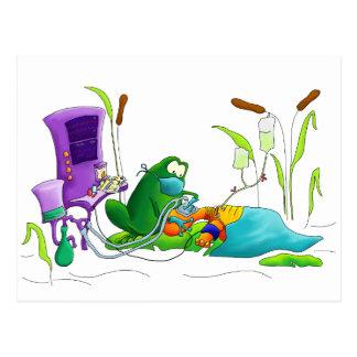Anesthesia Doctor Frog Postcard