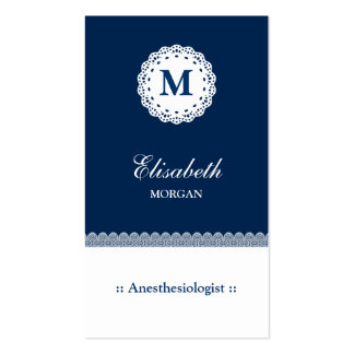Anesthesiologist Blue Lace Double-Sided Standard Business Cards (Pack Of 100)