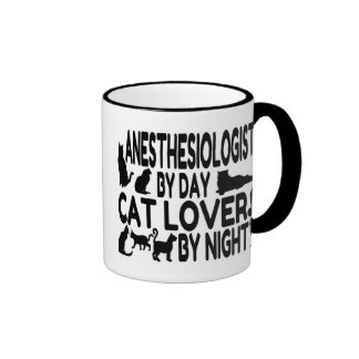 Anesthesiologist Cat Lover Ringer Mug