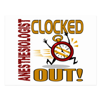 Anesthesiologist Clocked Out Postcard
