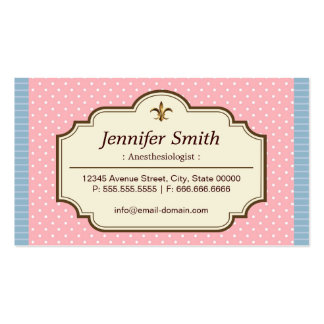 Anesthesiologist - Cute Polka Dots Double-Sided Standard Business Cards (Pack Of 100)